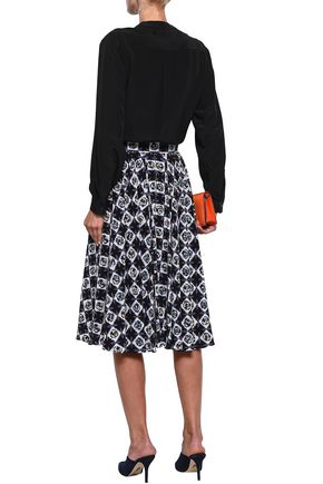 EMILIO PUCCI Bow-detailed silk crepe de chine blouse