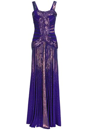 ROBERTO CAVALLI Sequined knitted gown