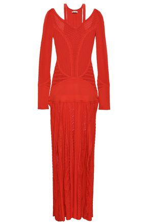 ROBERTO CAVALLI Cutout crochet-knit maxi dress 3e947efbe
