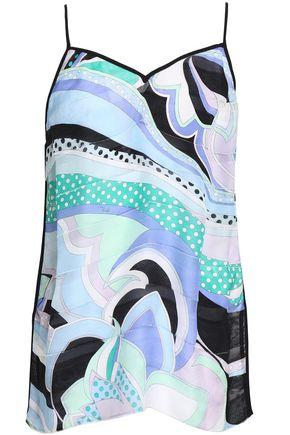 EMILIO PUCCI Printed silk-chiffon camisole