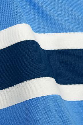 GANNI Dubois striped stretch-piqué T-shirt