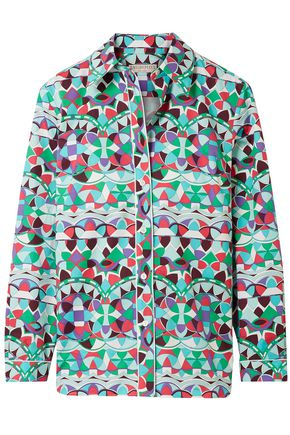 EMILIO PUCCI Printed cotton-poplin shirt