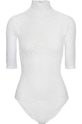 NINA RICCI Corded lace turtleneck bodysuit