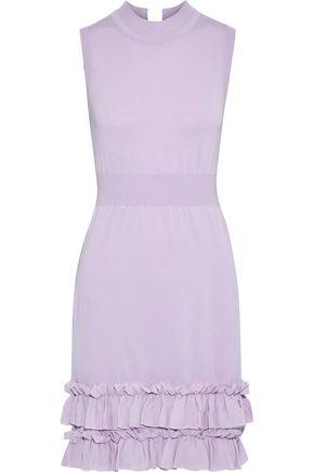 f1cbfffa0a NINA RICCI Ruffle-trimmed wool-blend mini dress