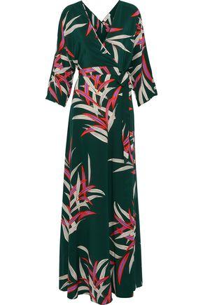 DIANE VON FURSTENBERG Eloise printed silk crepe de chine maxi wrap dress