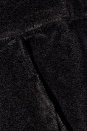 FRAME Cotton-blend velvet overalls