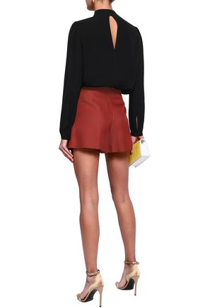 EMILIO PUCCI Wool and silk-blend twill shorts