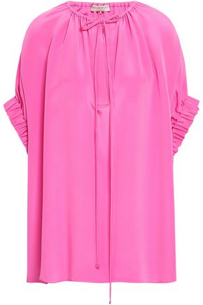 EMILIO PUCCI Gathered silk crepe de chine tunic