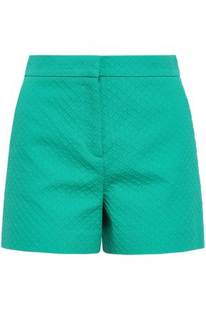 EMILIO PUCCI Cotton, wool and silk-blend jacquard shorts