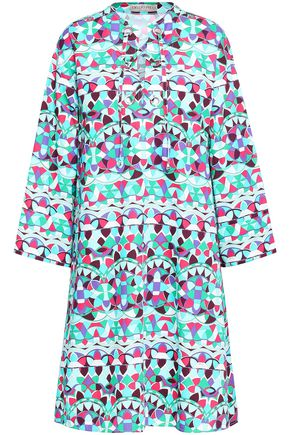 EMILIO PUCCI Printed cotton-poplin shirt dress