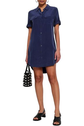 EQUIPMENT Signature washed-silk shirt dress