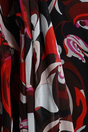 EMILIO PUCCI Ruffled printed silk-blend georgette kaftan