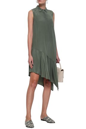 EQUIPMENT Tira asymmetric washed-silk shirt dress