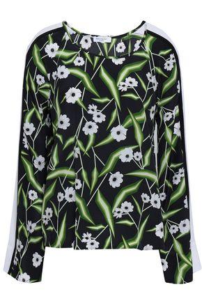 EQUIPMENT Floral-print silk blouse