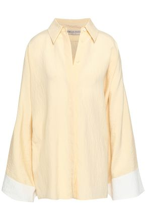 EMILIO PUCCI Two-tone silk-blend shirt