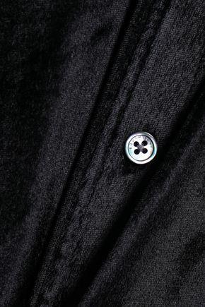 EQUIPMENT Velvet maxi shirt dress