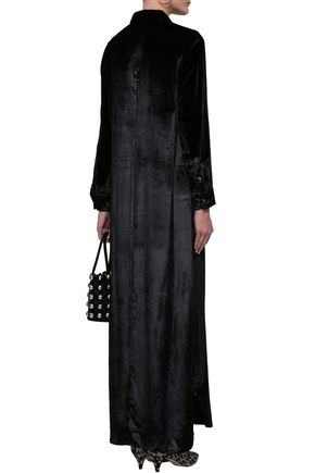 EQUIPMENT Velvet maxi shirt dress