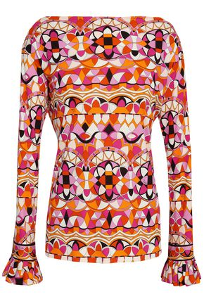 EMILIO PUCCI Printed stretch-jersey top