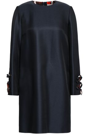 EMILIO PUCCI Bow-detailed wool and silk-blend twill mini dress