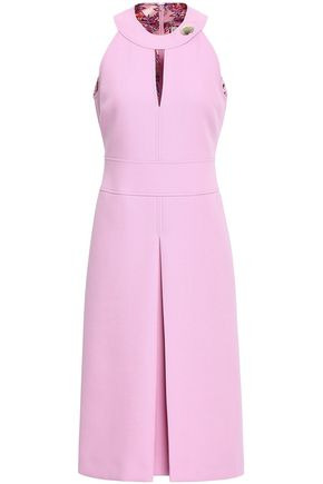 EMILIO PUCCI Cutout pleated woven dress
