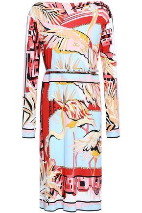 EMILIO PUCCI Printed stretch-crepe dress