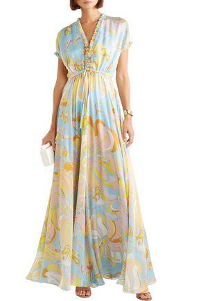 1dc9eaa026ba4 EMILIO PUCCI Ruffle-trimmed printed silk-chiffon maxi dress