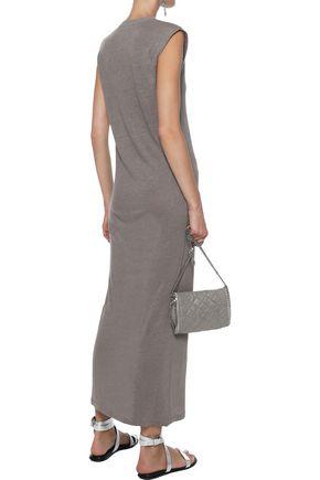 IRO Daisy lace-up slub linen-jersey maxi dress