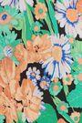 SANDRO Reda cutout floral-print silk crepe de chine blouse