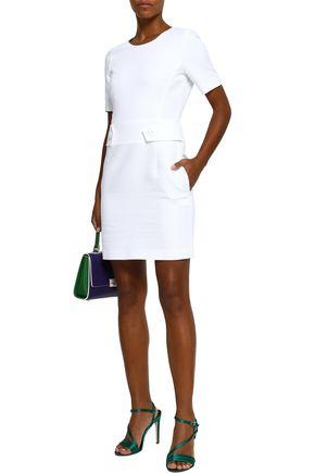 db11e378720e EMILIO PUCCI Button-detailed cotton and silk-blend piqué mini dress