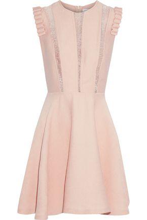 SANDRO Enrika lace-trimmed corduroy mini dress