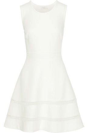 SANDRO Carrie crochet-trimmed cloqué mini dress
