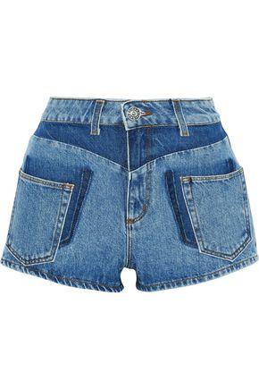 SANDRO Talk two-tone denim shorts