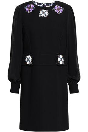 EMILIO PUCCI Embellished crepe mini dress