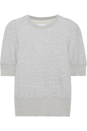 CURRENT/ELLIOTT The Pleat French cotton-blend terry sweatshirt
