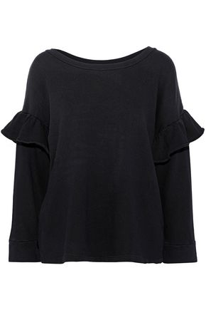 CURRENT/ELLIOTT The Ruffle French cotton-terry sweatshirt