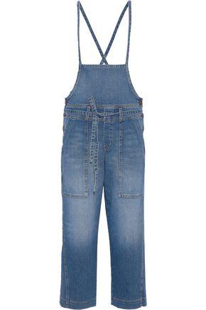 CURRENT/ELLIOTT The Chore cropped denim overalls