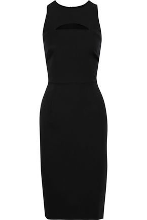 MILLY Luna cutout cady dress
