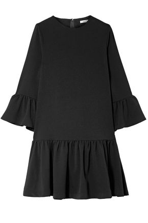 GANNI Clarke ruffled crepe mini dress