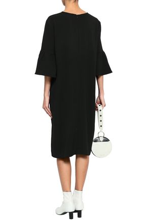 GANNI Clark crepe de chine midi dress
