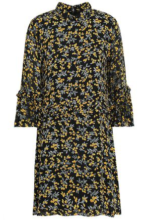 GANNI Marceau floral-print georgette mini dress