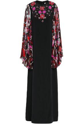 EMILIO PUCCI Embellished printed silk-georgette maxi dress