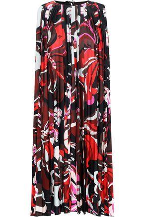 EMILIO PUCCI Pleated printed stretch-jersey dress