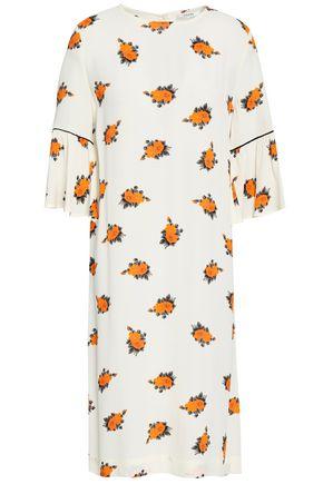 GANNI Roseburg floral-print crepe de chine dress