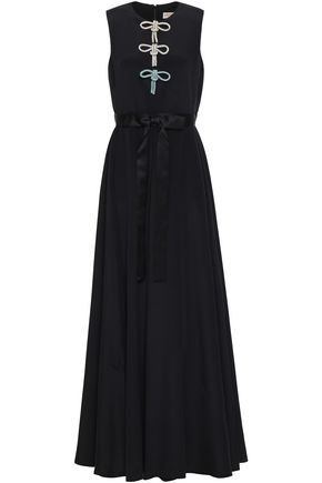 EMILIO PUCCI Tie-front bow-embellished silk maxi dress