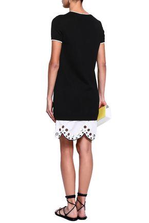 EMILIO PUCCI Scalloped broderie anglaise-paneled cotton mini dress