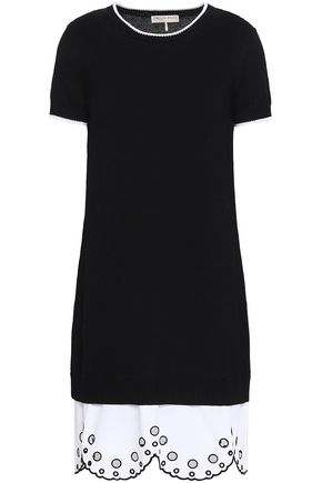EMILIO PUCCI Scalloped broderie anglaise-paneled cotton mini dress