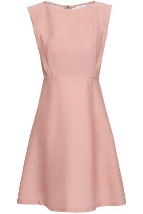 SANDRO Tolina lace-paneled corduroy dress