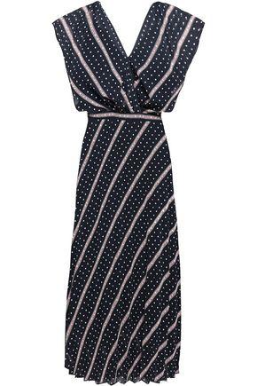 SANDRO Printed georgette midi dress
