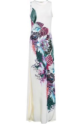 ROBERTO CAVALLI Printed knitted maxi dress