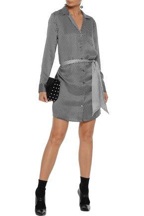 EQUIPMENT Rosalinde belted printed washed-silk mini dress